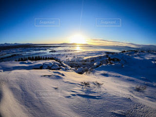 雪に覆われた斜面の写真・画像素材[1755330]