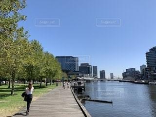 風景,建物,屋外,海外,川,都会,旅行,オーストラリア,メルボルン,日中