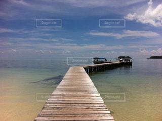 海,砂浜,桟橋,パラオ