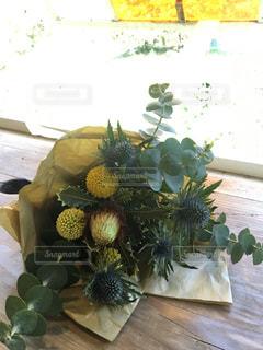 花,花束,黄色,ガラス,黄色の花,yellow,誕生日プレゼント,黄色のガラス