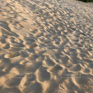 砂,ビーチ,砂浜,足跡,ハワイ,サンセット,ミルクティー,ミルクティー色