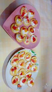 クリーム,フルーツ,果物,おやつ,手作り,クラッカー,簡単,イチゴジャム,色・表現