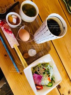 朝は近所の喫茶店で☕️モーニングの写真・画像素材[1785468]