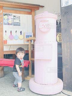 ピンク色のポスト❣️の写真・画像素材[2125867]