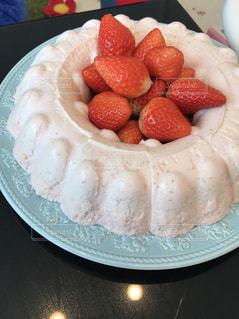 食べ物,ケーキ,苺,デザート,フルーツ,果物,お祝い,お家,ババロア,イチゴ