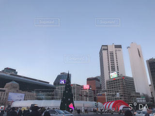 空,冬,屋外,観光,都会,人物,韓国,海外旅行,ソウル