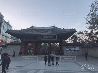 空,建物,冬,屋外,都会,旅行,韓国,寺,海外旅行,ソウル,南漢大