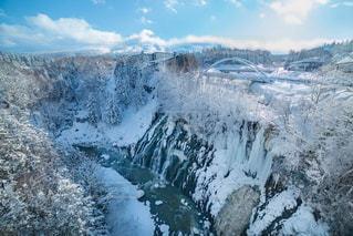 美瑛 しらひげの滝の写真・画像素材[1798055]