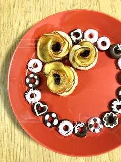 プレゼント,チョコレート,甘い,アップルパイ,バレンタインデー,ホワイトチョコ,イチゴチョコレート