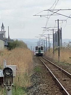 線路,後姿,列車,寂しい,常磐線,後姿フォト,原町へ
