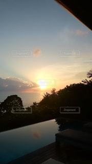 夕日,ビーチ,プール,タイ,プーケット,トリサラ
