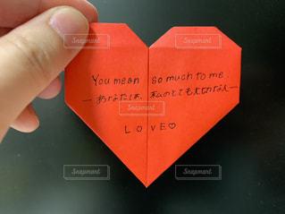 文字,赤,ハート,ポスト,メッセージ,好き,恋,折り紙,手書き,大切,ラブレター,メールボックス