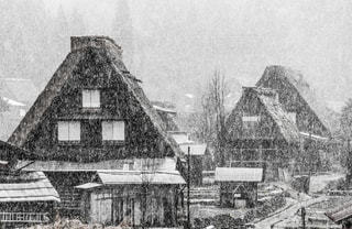 白川郷、初雪の写真・画像素材[1773375]