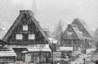 白川郷の、初雪。の写真・画像素材[1779768]