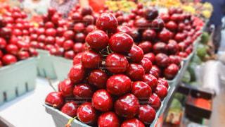 食べ物,赤,フルーツ,果物,さくらんぼ,市場,店,果実,カナダ,チェリー,艶,バンクーバー,食材,グランビルアイランド,ツヤツヤ