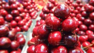 食べ物,赤,フルーツ,果物,さくらんぼ,市場,果実,カナダ,チェリー,艶,バンクーバー,食材,グランビルアイランド