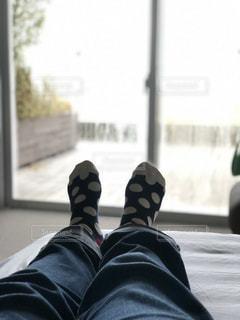 水玉の靴下の写真・画像素材[1810711]