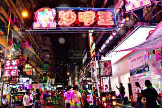 屋台,ネオン,アジア,旅行,香港,繁華街,Travel,Asia,夜散歩