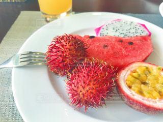 食べ物,朝食,南国,赤,鮮やか,フルーツ,果物,健康,朝ごはん,おいしい,食材,フレッシュ