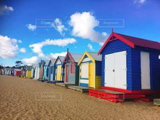 ビーチ,カラフル,家,外国,旅行,オーストラリア,海外旅行,メルボルン