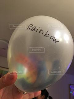 パーティ,文字,手,風船,レインボー,英字,rainbow,手書き,虹色