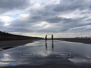水 雲の写真・画像素材[2374401]
