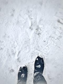 雪道を歩く。の写真・画像素材[1798861]