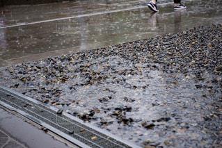 雨,水滴,水たまり,水しぶき,砂利,梅雨,スニーカー,石だたみ