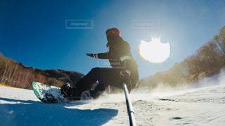 自然,空,雪山,スノーボード,ボード