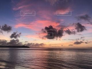 海,海外,ビーチ,雲,夕暮れ,海岸,夕方,グアム,海外旅行