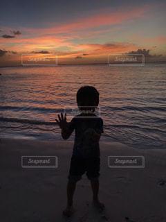 グアムの夕焼けの写真・画像素材[2261988]