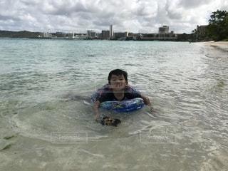 グアムの海での写真・画像素材[2329818]