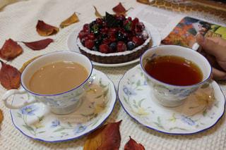 スイーツと紅茶の写真・画像素材[2704344]