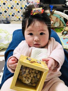 豆,人,赤ちゃん,鬼,ベビー,節分,娘,6ヶ月