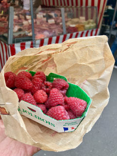 朝食,フルーツ,果物,パリ,マーケット,ベリー,マルシェ,ラズベリー,食材