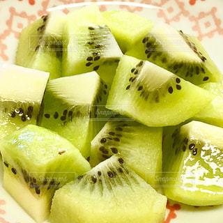 食べ物,フルーツ,果物,皿,キウイ,新鮮,赤色,フレッシュ,緑色,ひとくち