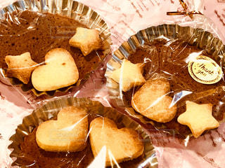 食べ物,星,ハート,お菓子,チョコレート,バレンタイン,手作り,マドレーヌ,3個