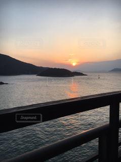 仙酔島から昇る朝日の写真・画像素材[1779476]
