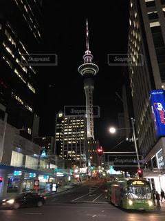 夜景,都市,旅行,海外旅行,ニュージーランド,オークランド,スカイタワー