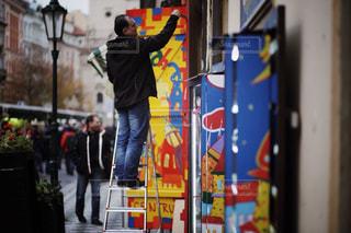 建物,街並み,海外,アート,ヨーロッパ,人,チェコ,海外旅行