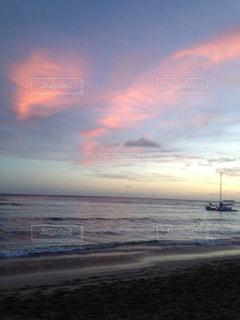 風景,ビーチ,雲,砂浜,水面,海岸,夕方,ハワイ