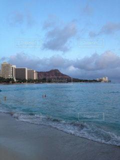 風景,ビーチ,雲,砂浜,水面,海岸,山,ハワイ
