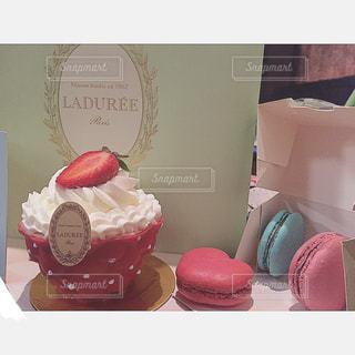ケーキ,デザート,ハート,カップケーキ,チョコレート,バレンタイン,マカロン