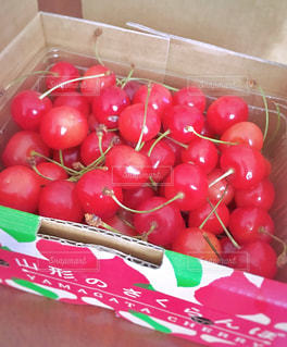 食べ物,赤,フルーツ,果物,さくらんぼ,贈り物,山形,フレッシュ