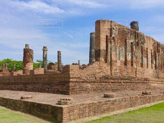 風景,空,建物,屋外,海外,旅行,遺跡,タイ,石,アユタヤ,古代
