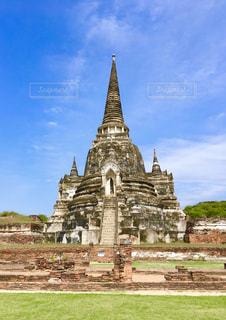 風景,空,建物,屋外,海外,旅行,遺跡,タイ,石,寺,仏教,アユタヤ,古代