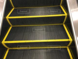 黒,黄色,エスカレーター,ショッピングモール,線