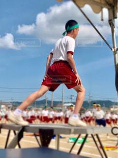 体育委員準備体操 後ろ姿の写真・画像素材[2143800]
