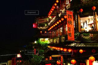 風景,夜景,観光,台湾,九份,海外旅行