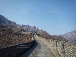 風景,観光,道,中国,海外旅行,万里の長城
